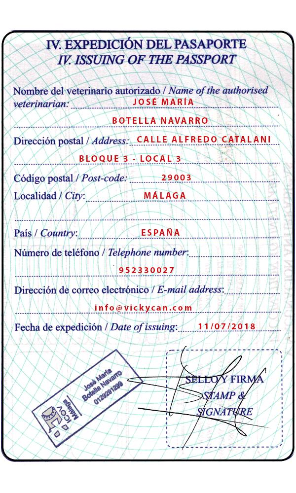 Expedición del pasaporte