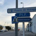 detalle del señalización en vía pública indicando el desvío al PIF